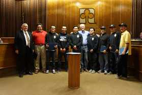 Mayor, Players, Coaches & District Coordinator.jpg