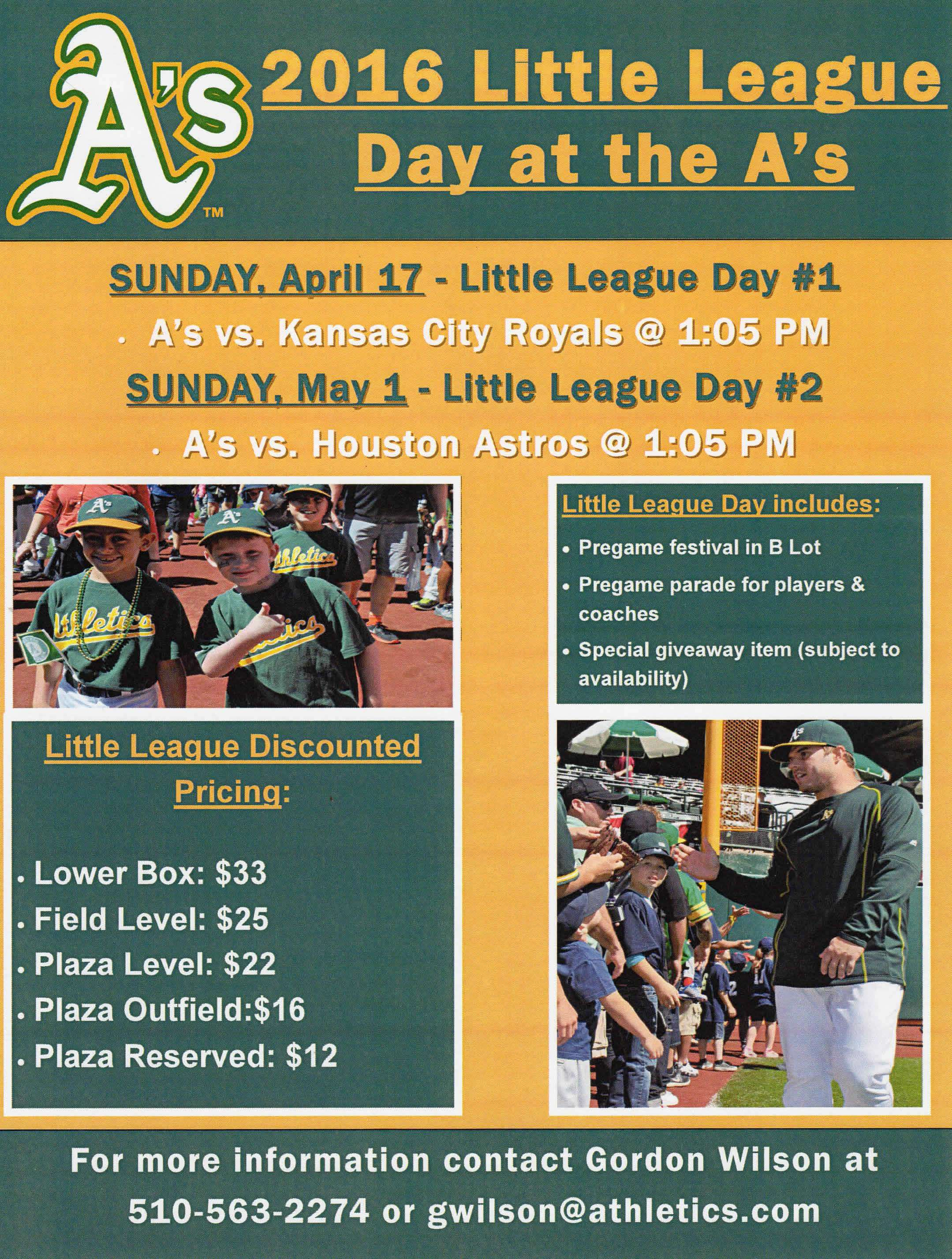 Little League Days Flier