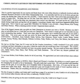 Girls 75 Coach letter