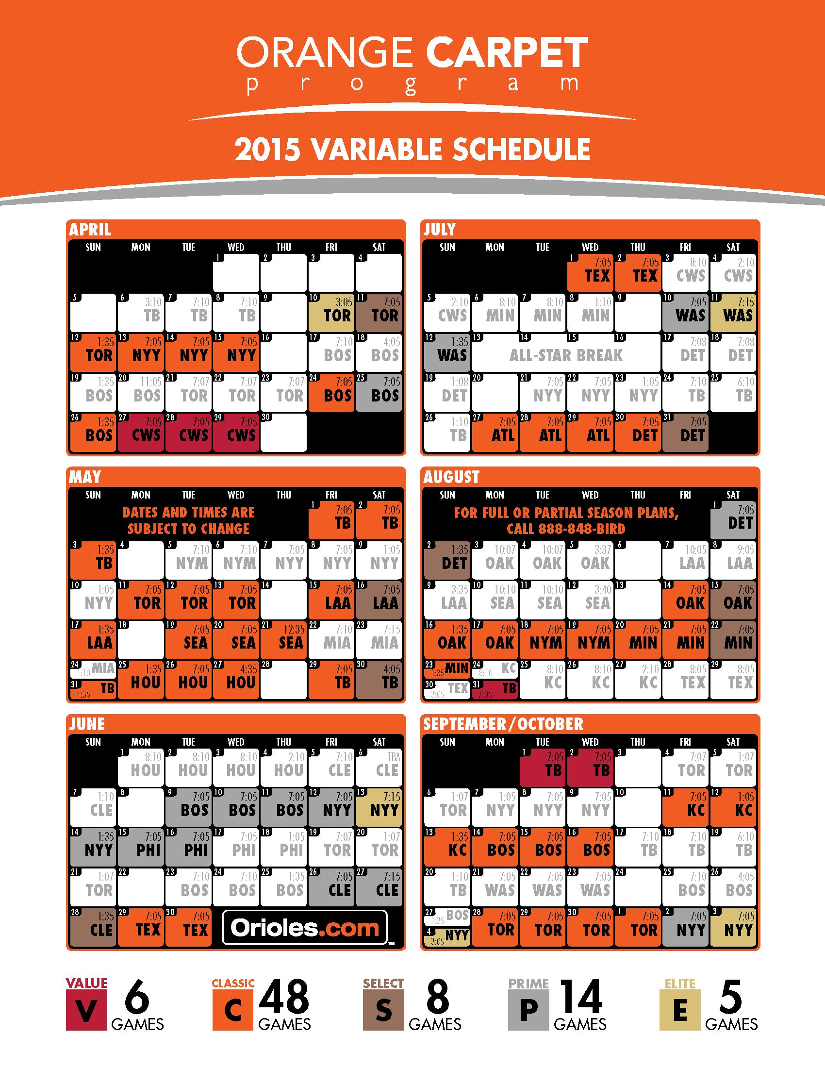 Os 2015 Schedule