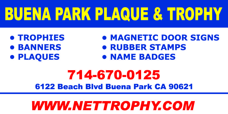 Buena Park Plaque & Trophy