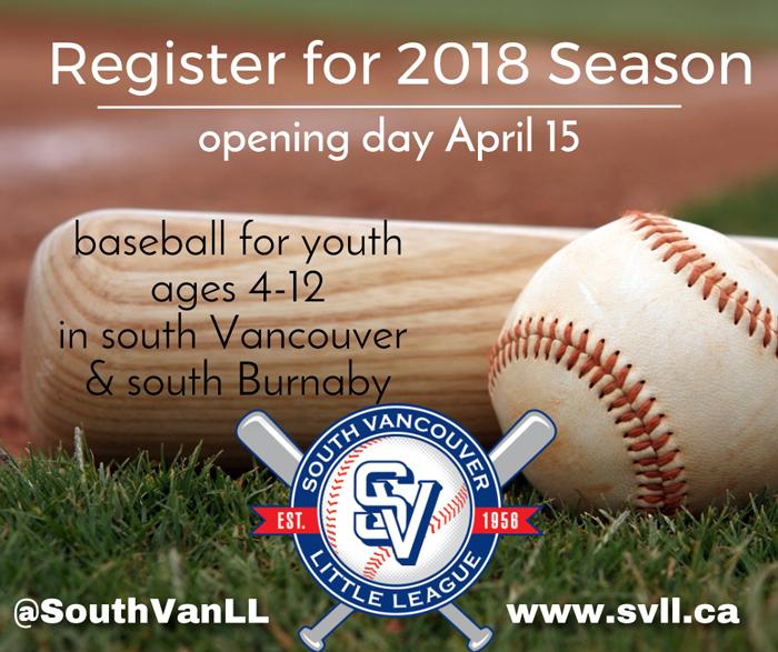 Register for 2018 Season