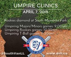 Umpire Clinics April 7 2018