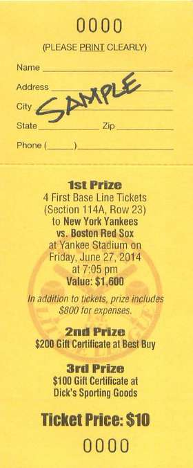 2014 VLL Raffle Ticket