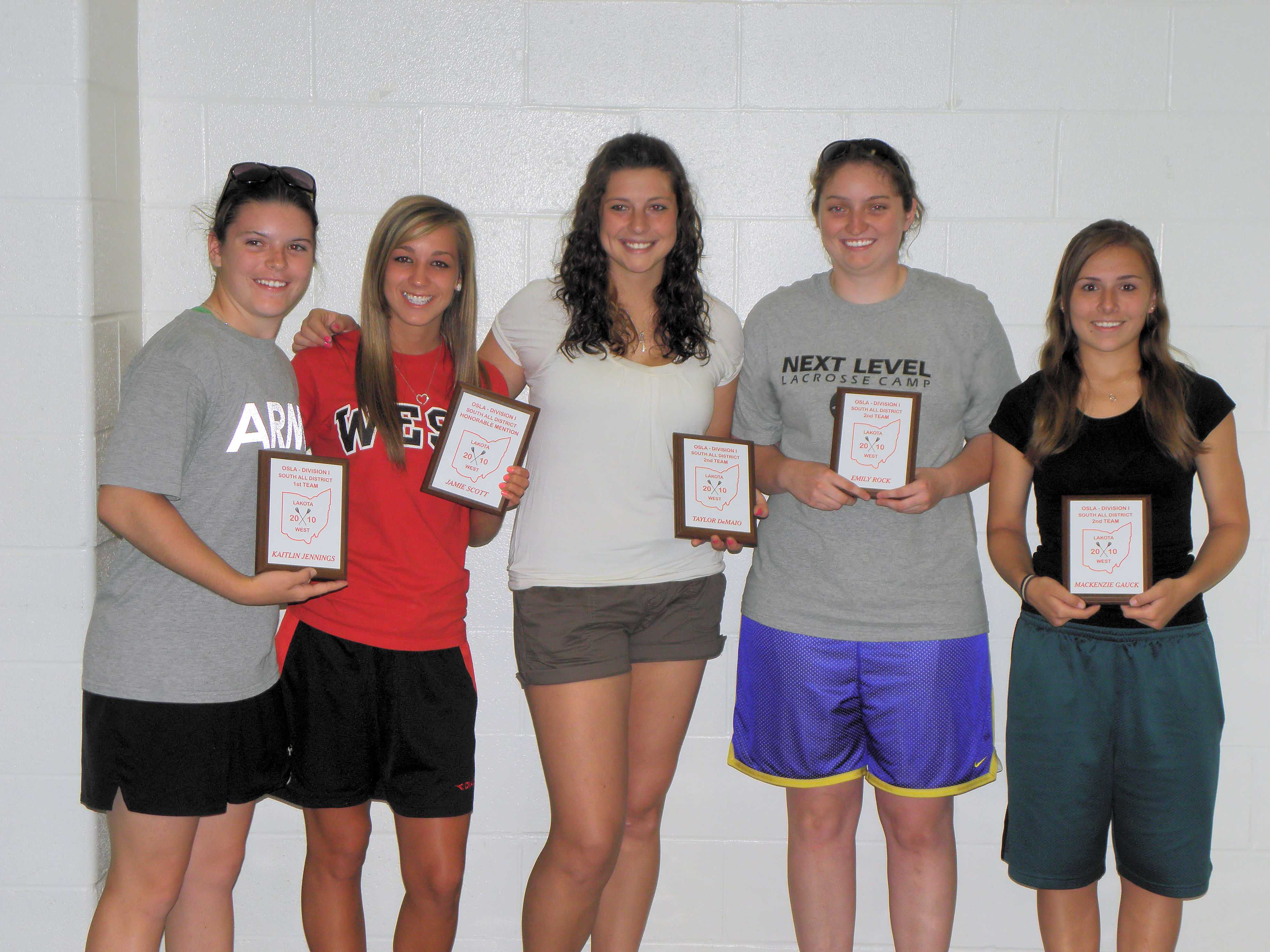 2010 Womens All District