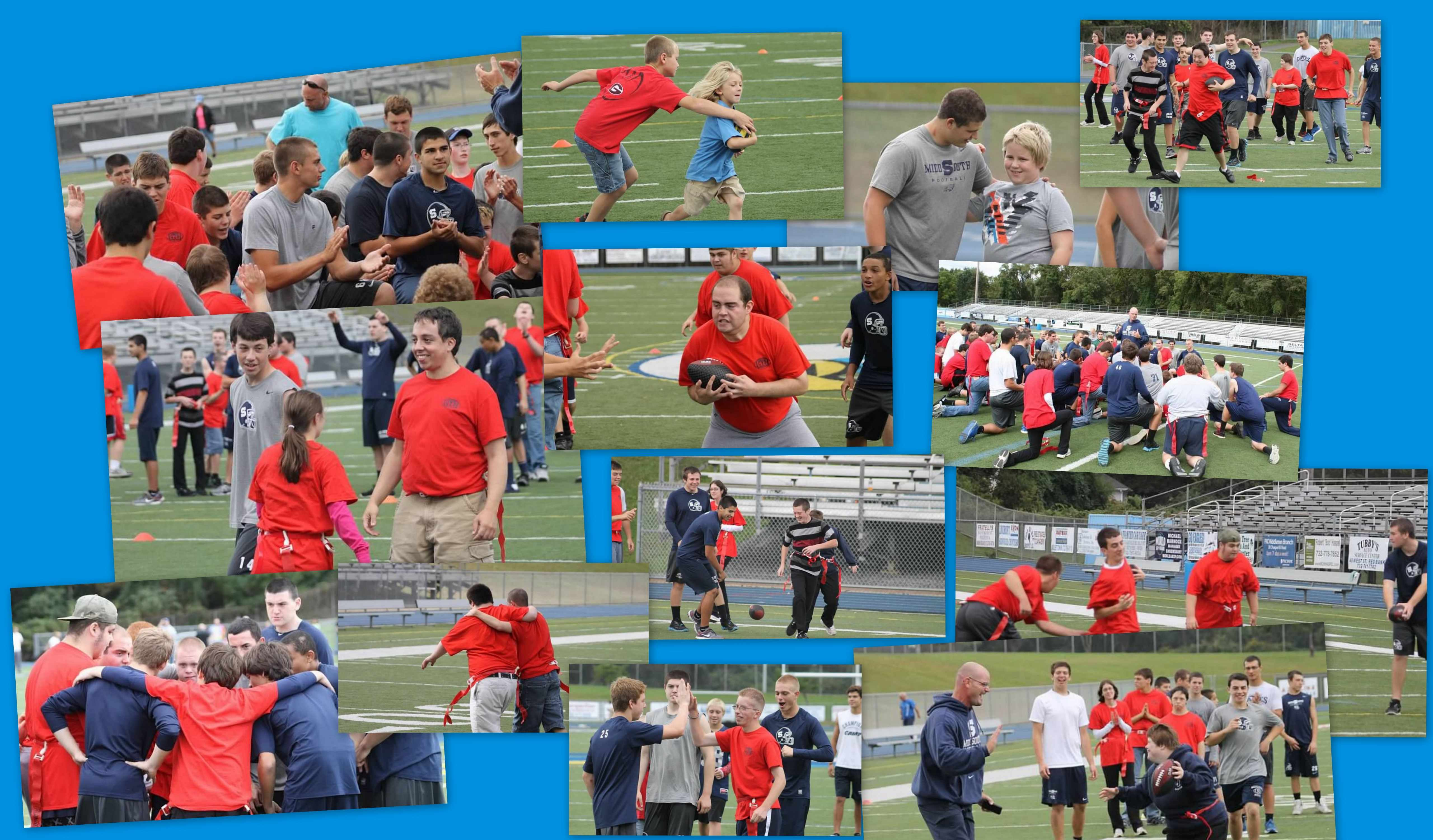 Flag Football collage
