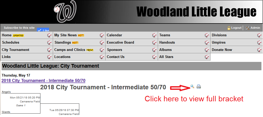 how to view tournament brackets