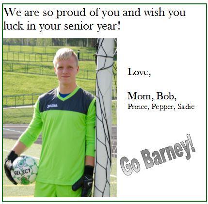 Good Luck Ad - Barney