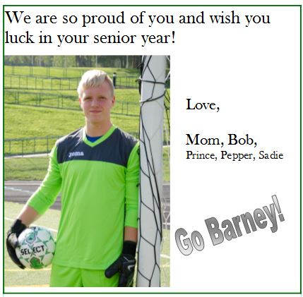Good Luck Ad - Barney