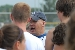 coach Tackett explains a play
