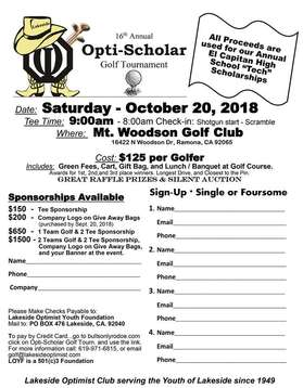 Optimist Golf Tournament
