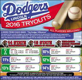 2016 Tryout Info