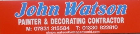 JOHN WATSON Painter & Decorating Contractor