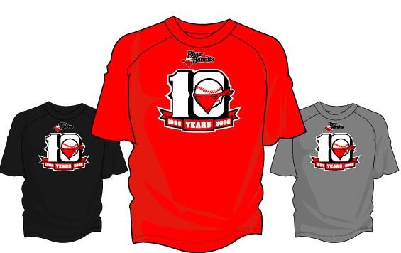 10th anniversary tshirts