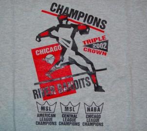2002 river bandits championship t shirt