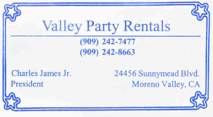 Valley Party Rentals