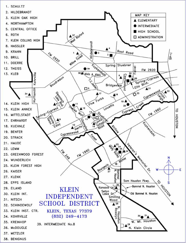 Klein ISD map