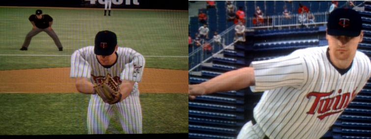 Images Of Me From MLB 08 The Show, I wish I had those muscles in the left  pic!