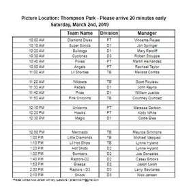 LGSA Photo Schedule