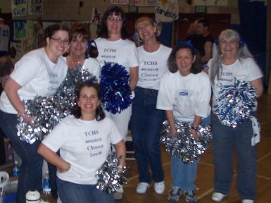 staff v seniors staff cheer
