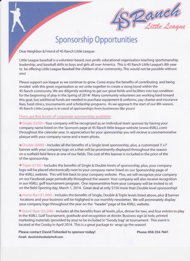 2014 Sponsor Sheet