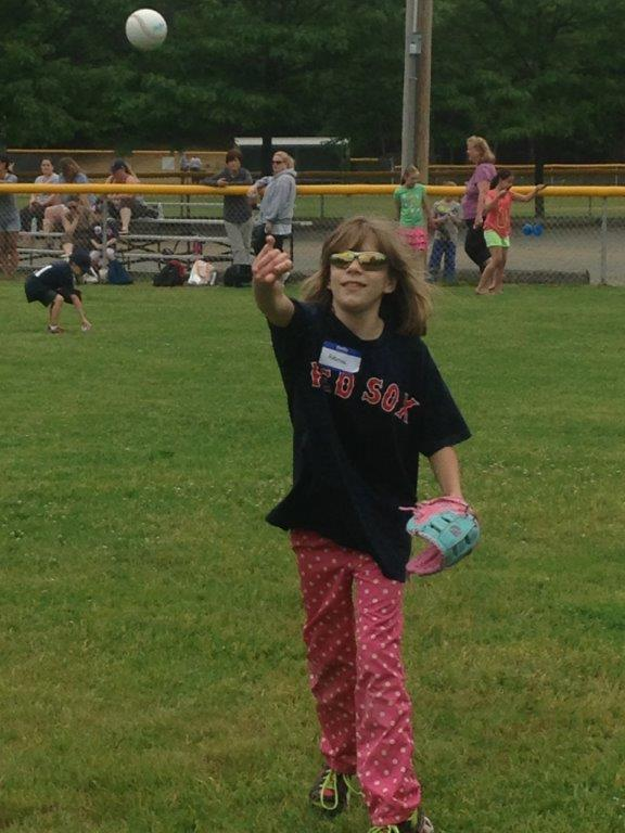 Girl Throwing Ball
