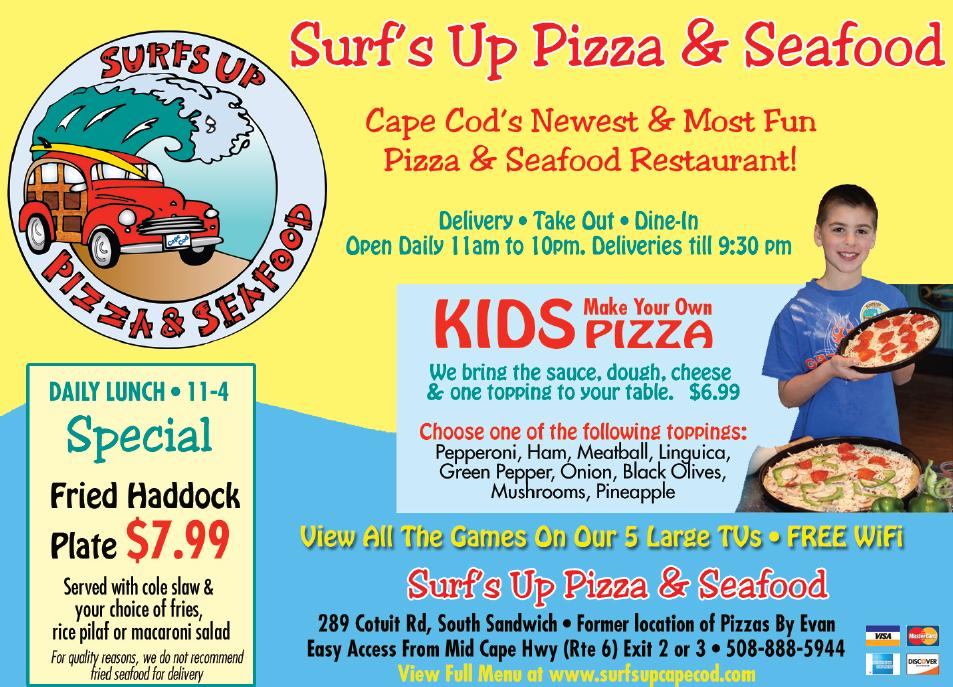 <center>Surf's Up Pizza and Seafood</center>