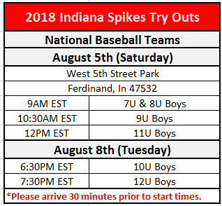 2018 Baseball Try Outs