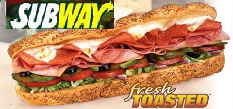 Subway sub graphic