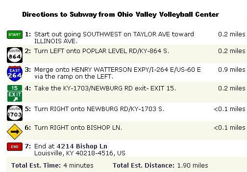 Subway directions