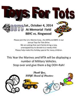 BBYC Toys For Tots 2014