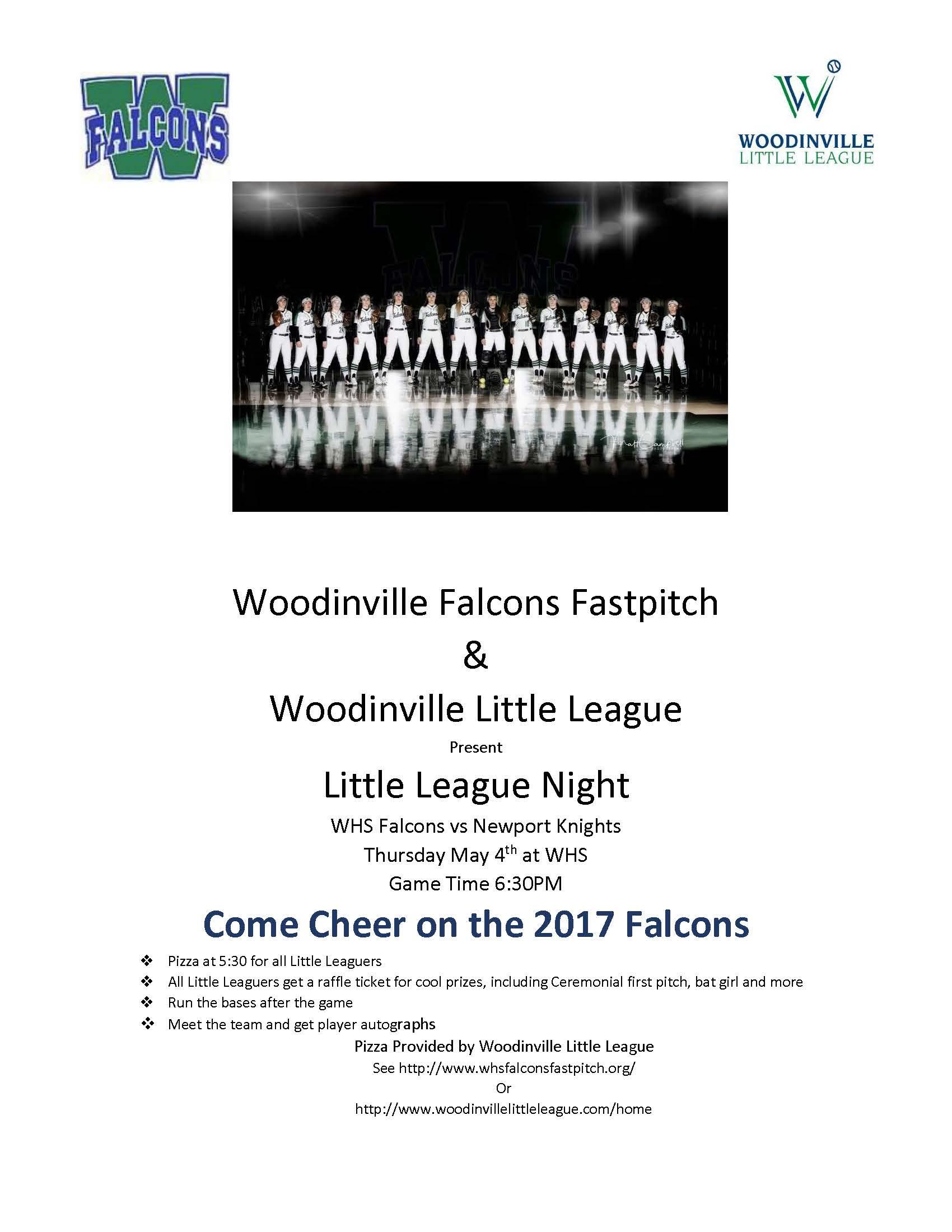 Little League Night Flyer 2017