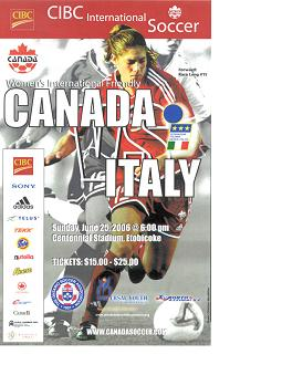 Canada vs Italy Friendly