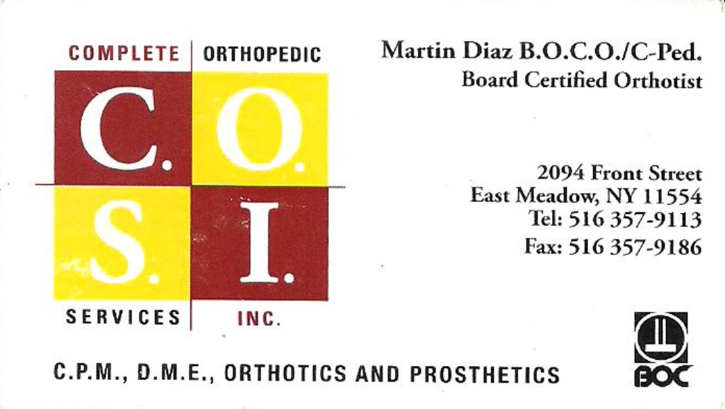 Complete Orthopedic Services Inc.