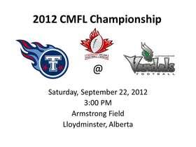 2012 CMFL Champioship
