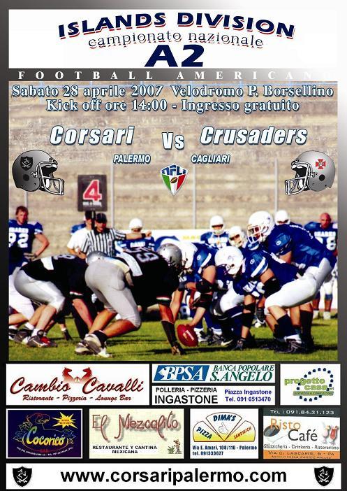 Corsari vs Crusaders 2007