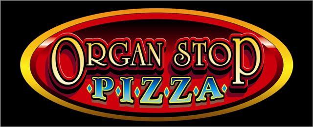 Organ Stop Pizza Oval Logo