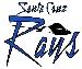 Santa Cruz Rays White Logo- Medium