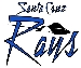 Santa Cruz Rays White Logo- Medium