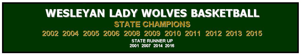 Wesleyan Lady Wolves Basketball
