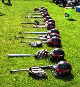 Helmets on Grass