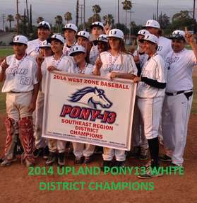 2014 13WHITE DISTRICT CHAMPIONS