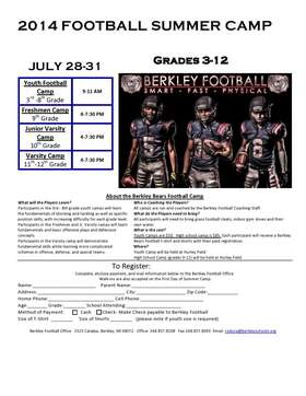 2014 Berkley Bears Football Camp
