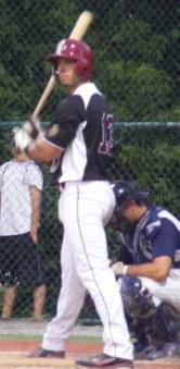 Peter Copa at bat