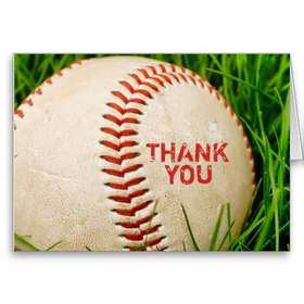 baseball thank you
