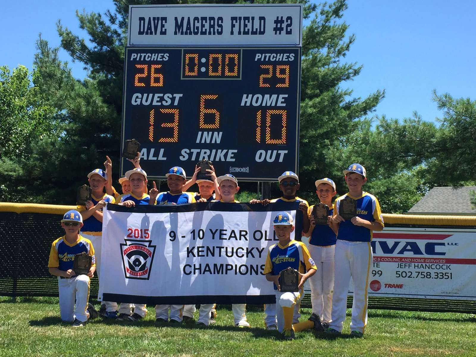 9-10 Year Olds State Champions