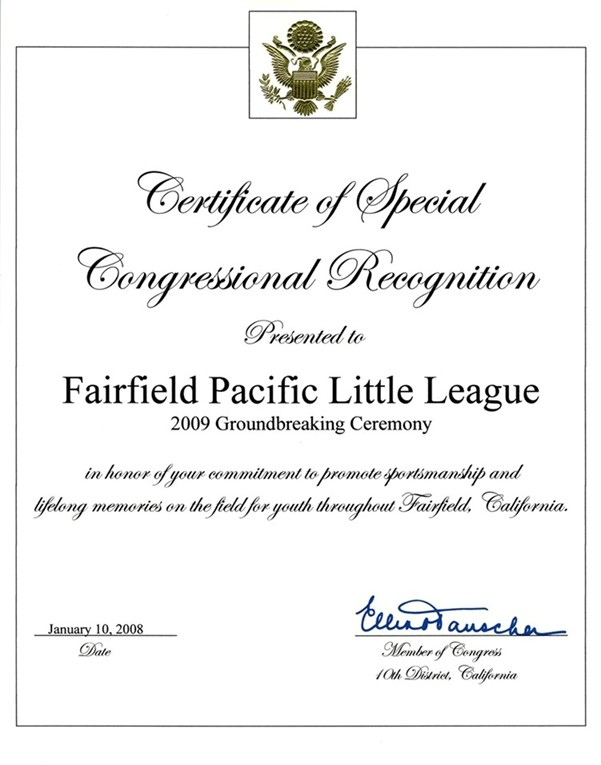 FPLL - Certificate from Congress