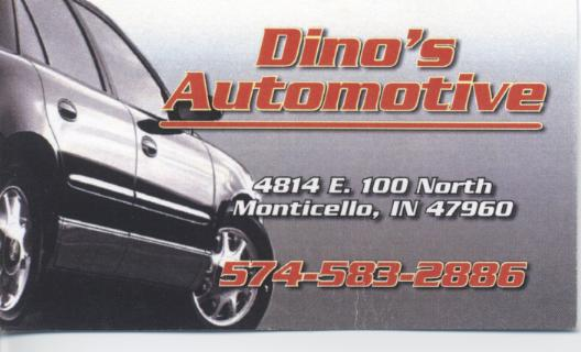 Dino's Business Card