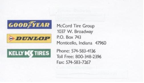mcCord business card