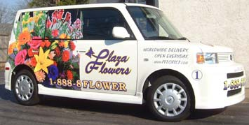 Plaza Flowers truck